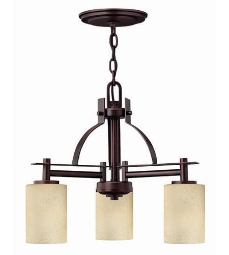 Hinkley Lighting Stowe 3 Light Chandelier in Metro Copper 4723MC photo