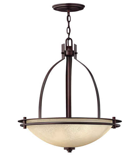 Hinkley Lighting Stowe 3 Light Hanging Foyer in Metro Copper 4724MC photo