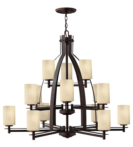 Hinkley 4729MC Stowe 15 Light 42 inch Metro Copper Chandelier Ceiling Light, 3 Tier photo