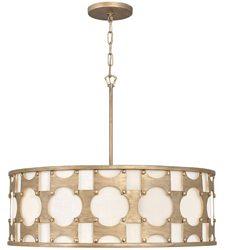 Hinkley 4736BNG Carter 6 Light 29 inch Burnished Gold Chandelier Ceiling Light photo