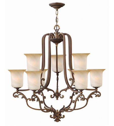 Hinkley Maribella 2 Tier 9Lt Chandelier in Royal Bronze 4768RY photo