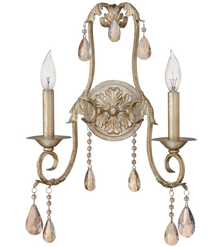 Hinkley Lighting Carlton 2 Light Sconce in Silver Leaf 4772SL