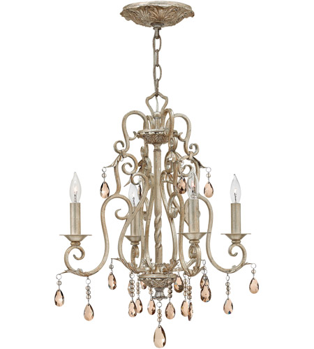 Hinkley 4774SL Carlton 4 Light 18 inch Silver Leaf Chandelier ...