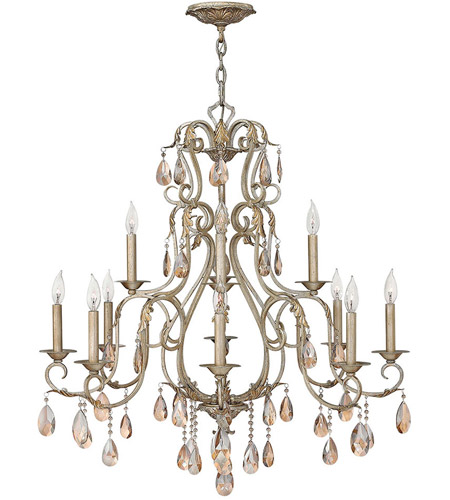 Hinkley Lighting Carlton 12 Light Chandelier in Silver Leaf 4778SL