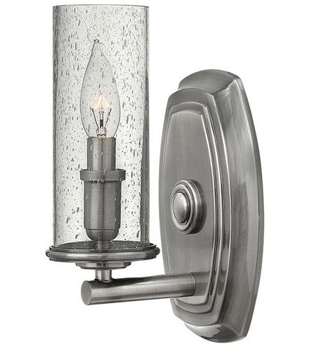 Hinkley Lighting Dakota 1 Light Sconce in Polished Antique Nickel 4780PL