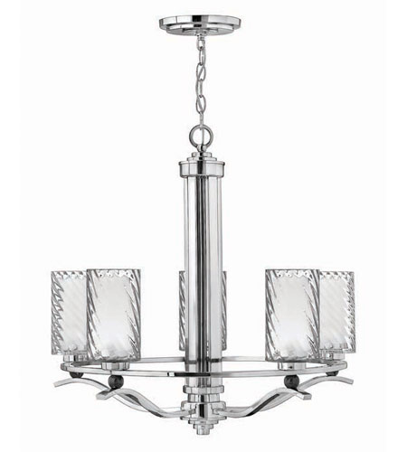 Hinkley Lighting Tides 5 Light Chandelier in Chrome 4785CM