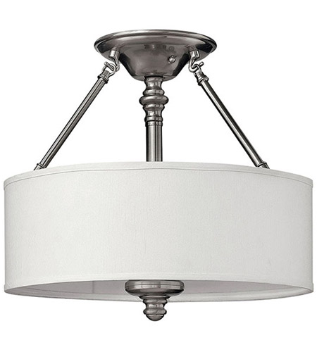 Hinkley 4791BN Sussex 3 Light 16 inch Brushed Nickel Semi Flush Ceiling Light photo