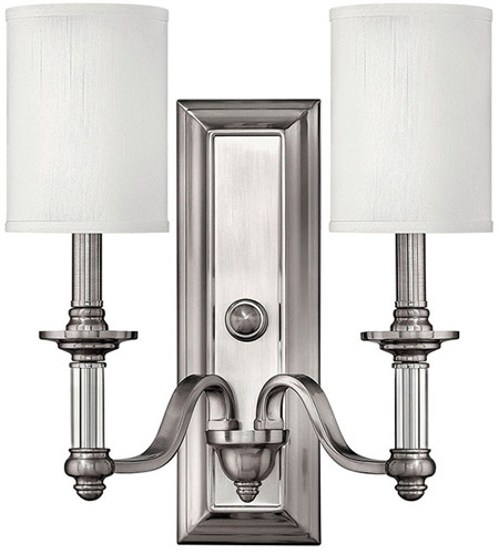 Hinkley 4792BN Sussex 2 Light 16 inch Brushed Nickel Sconce Wall Light photo