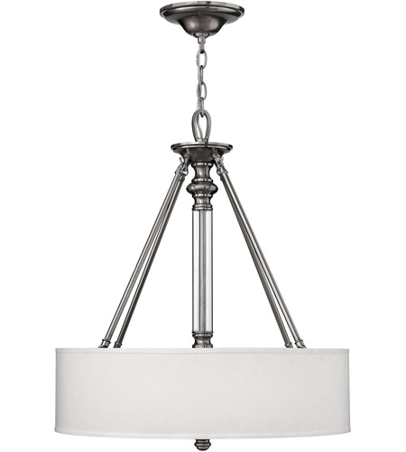 Hinkley 4794BN Sussex 3 Light 22 inch Brushed Nickel Inverted Pendant Ceiling Light photo