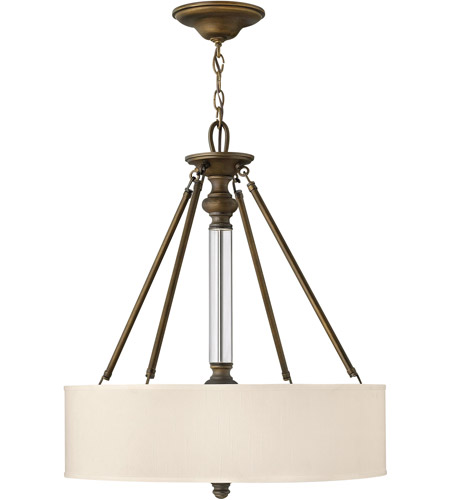 Hinkley 4794EZ Sussex 3 Light 22 inch English Bronze Hanging Foyer Ceiling Light photo