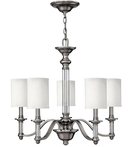 Hinkley Lighting Sussex 5 Light Chandelier in Brushed Nickel 4795BN