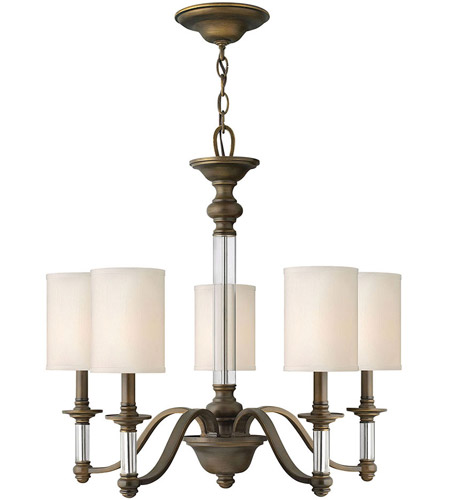 Hinkley 4795EZ Sussex 5 Light 26 inch English Bronze Chandelier Ceiling Light photo