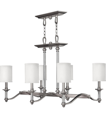 Hinkley Lighting Sussex 6 Light Chandelier in Brushed Nickel 4796BN