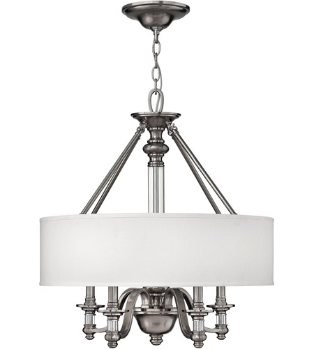 Hinkley 4797BN Sussex 4 Light 23 inch Brushed Nickel Inverted Pendant Ceiling Light photo