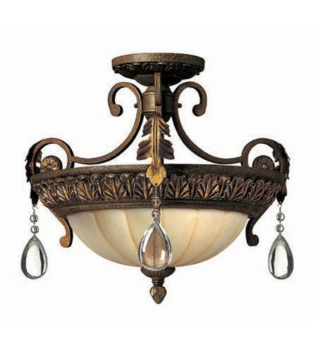 Hinkley Lighting Veranda 3 Light Semi Flush in Summerstone 4801SU