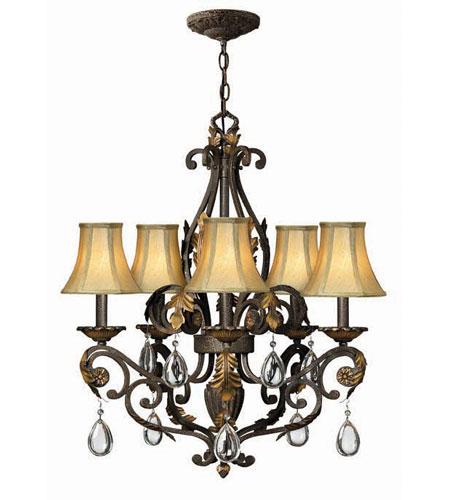 Hinkley lighting veranda 5 light chandelier in summerstone 4806su mozeypictures Images