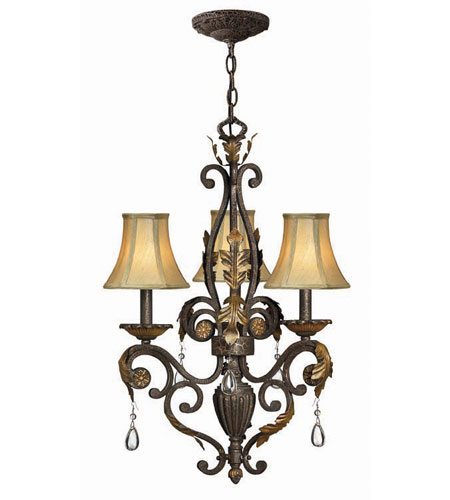 Hinkley Lighting Veranda 3 Light Chandelier in Summerstone 4808SU photo