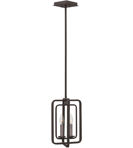 Hinkley 4813DZ Quentin 2 Light 9 inch Aged Zinc Pendant Ceiling Light photo
