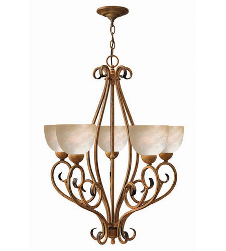 Hinkley Canyon Ridge 5Lt Chandelier in Antique Gold 4815AD