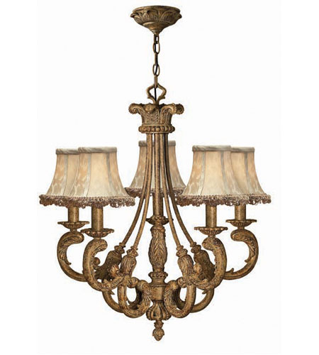 Hinkley Provence 5Lt Chandelier in French Gold 4845FG photo