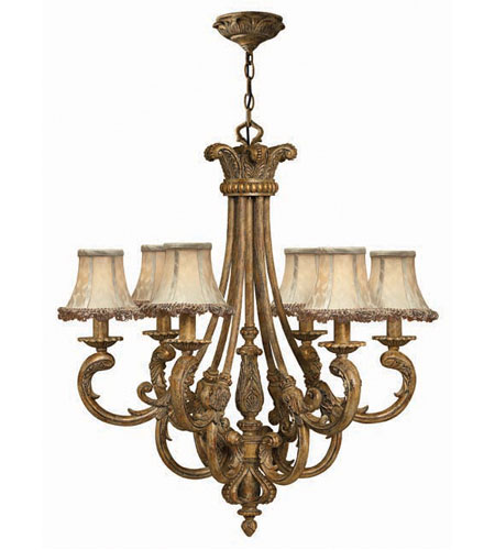 Hinkley Provence 6Lt Chandelier In French Gold 4846FG