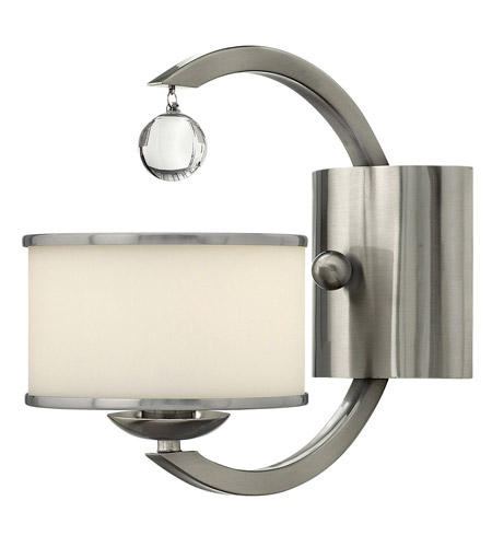 Hinkley 4850BN Monaco 1 Light 6 inch Brushed Nickel Sconce Wall Light, Etched Opal Glass photo
