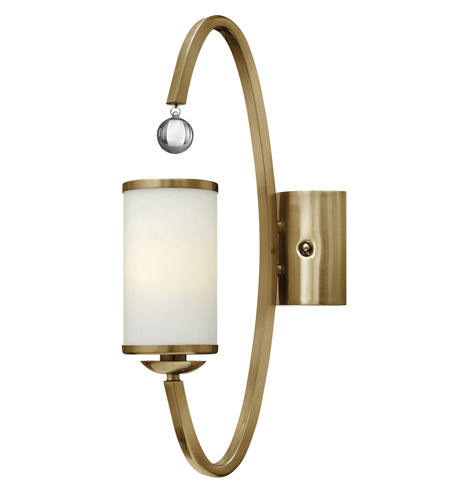 Hinkley 4851BC Monaco 1 Light 5 inch Brushed Caramel Sconce Wall Light, Etched Opal Glass photo