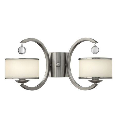 Hinkley 4852BN Monaco 2 Light 2 inch Brushed Nickel Sconce Wall Light, Etched Opal Glass photo
