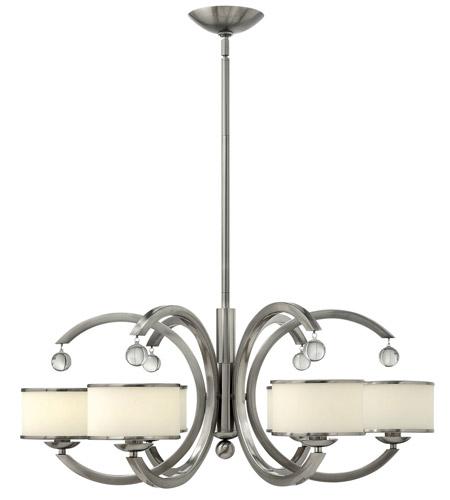 Hinkley Lighting Monaco 6 Light Chandelier in Brushed Nickel 4856BN