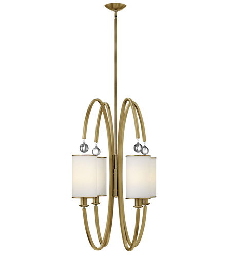 Hinkley 4858BC Monaco 4 Light 27 inch Brushed Caramel Foyer Ceiling Light, Etched Opal Glass photo