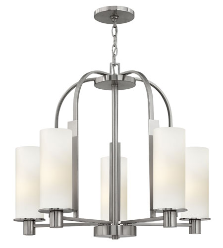 Hinkley Lighting Piper 5 Light Chandelier in Brushed Nickel 4865BN photo