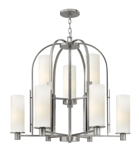 Hinkley Lighting Piper 9 Light Chandelier in Brushed Nickel 4868BN