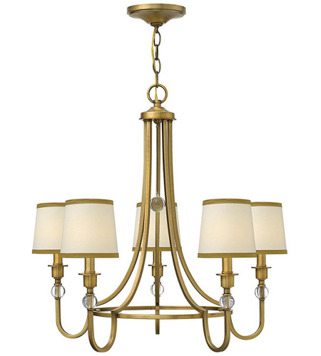 Hinkley Lighting Morgan 5 Light Chandelier in Brushed Bronze 4875BR