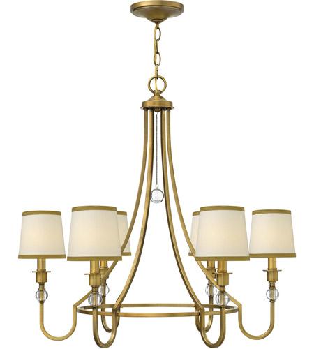 Hinkley 4876br Morgan 6 Light 30 Inch Brushed Bronze Chandelier Ceiling