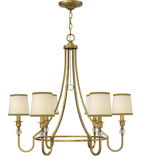 Hinkley Lighting Morgan 6 Light Chandelier in Brushed Bronze 4876BR