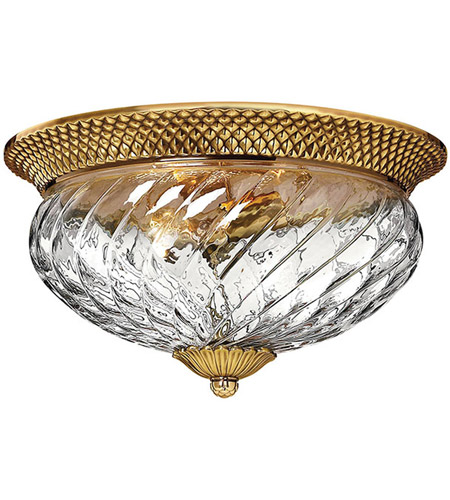 Hinkley Lighting Plantation 3 Light Flush Mount in Burnished Brass 4881BB
