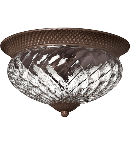 Hinkley 4881CB Plantation 3 Light 16 inch Copper Bronze Foyer Flush Mount Ceiling Light photo