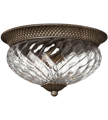 Hinkley 4881PZ Plantation 3 Light 16 inch Pearl Bronze Bath Flush Mount Ceiling Light photo