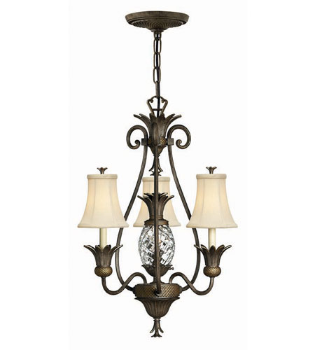 Hinkley Lighting Plantation 4 Light Chandelier in Pearl Bronze 4883PZ photo