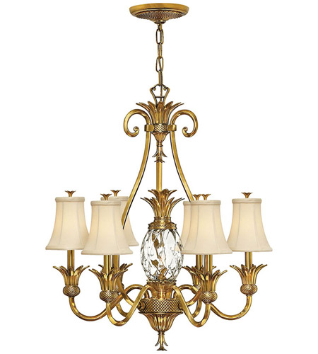 Hinkley 4886BB Plantation 7 Light 28 inch Burnished Brass Foyer Chandelier Ceiling Light photo