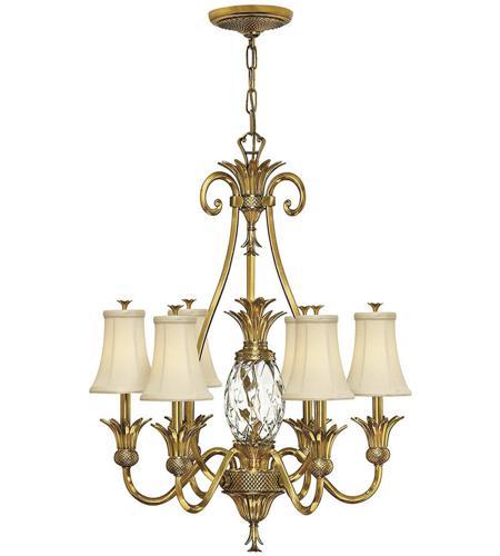 Hinkley Foyer Chandelier : Hinkley bb plantation light inch burnished brass