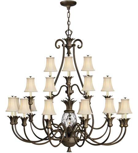 Hinkley 4889PZ Plantation 21 Light 56 inch Pearl Bronze Chandelier Ceiling Light, 3 Tier photo