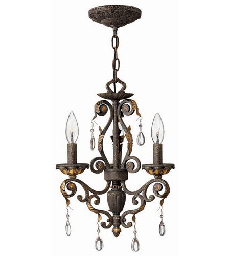 Hinkley Lighting Veranda 3 Light Chandelier in Summerstone 4893SU photo