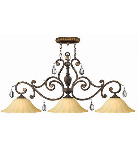 Hinkley Veranda Island 3Lt Chandelier in Summerstone 4894SU photo