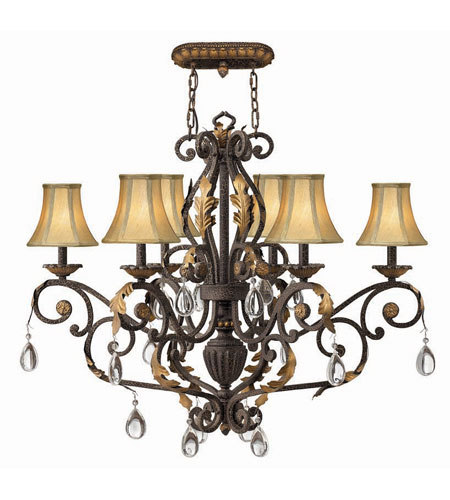 Hinkley Lighting Veranda 6 Light Chandelier in Summerstone 4896SU