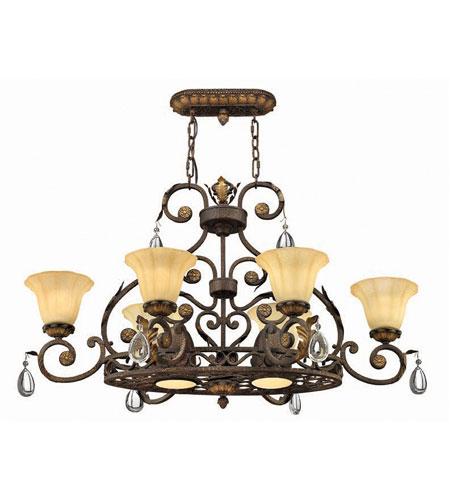 Hinkley veranda pot rack 6lt chandelier in summerstone 4898su mozeypictures Images