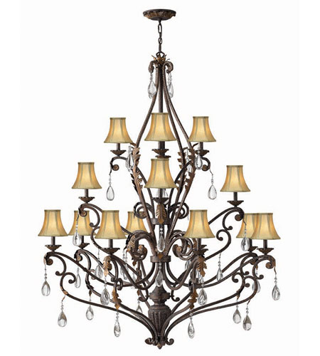 Hinkley Lighting Veranda 16 Light Chandelier in Summerstone 4899SU
