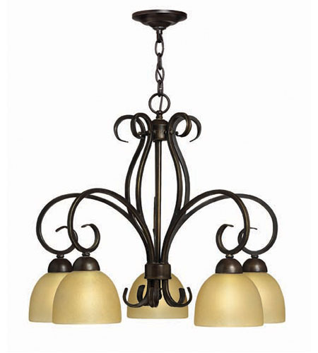 Hinkley Canyon Ridge 5Lt Chandelier in Rustic Iron 4919RI photo