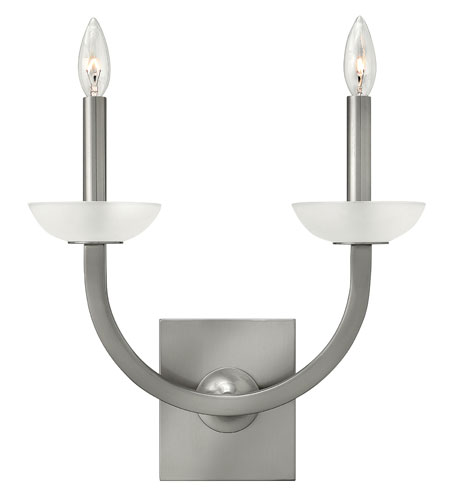 Hinkley Lighting Splendor 2 Light Sconce in Brushed Nickel 4922BN