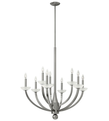 Hinkley Lighting Splendor 9 Light Chandelier in Brushed Nickel 4928BN